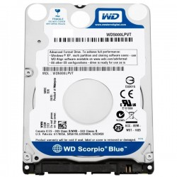 Disco Duro 2.5'' Western Digital Notebook 500GB SATA2