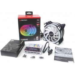 Pack 3 Extractores Fantech Typhoon FB-302 120mm RGB c/Control